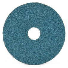 "7"" x 7/8"" Performance Coated Zirconia Alumina Resin Fiber Disc, 24 Grit"