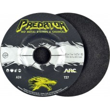 """4-1/2"""" x 1/4"""" x 7/8"""" T27 - Depressed Center Grinding Wheel, A24T"""