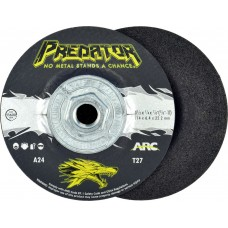 """4-1/2"""" x 1/4"""" x 5/8""""-11 T27 - Depressed Center Grinding Wheel, A24T"""