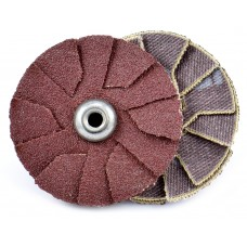 "3"" x 1/4""-20 Spin-On Overlap Disc, 120 Grit"