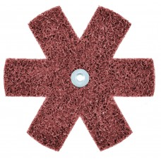 "1-1/2"" x 1/4""-20 Z-WEB Surface Conditioning Star, MED"