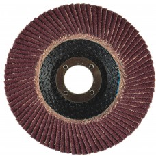 "6"" x 5/8""-11 T29 - Angle Face Aluminum Oxide Fiberglass Flap Disc, 36 Grit"
