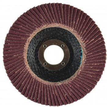 "4-1/2"" x 5/8""-11 T27 - Flat Face Aluminum Oxide Fiberglass Flap Disc, 120 Grit"
