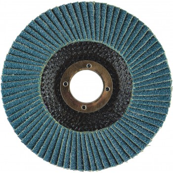 "4-1/2"" x 7/8"" T29 - Angle Face EZA Fiberglass Flap Disc, 36 Grit"
