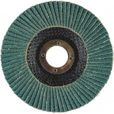 "5"" x 7/8"" Hard Edge SZA HD Fiberglass Flap Disc, 120 Grit"