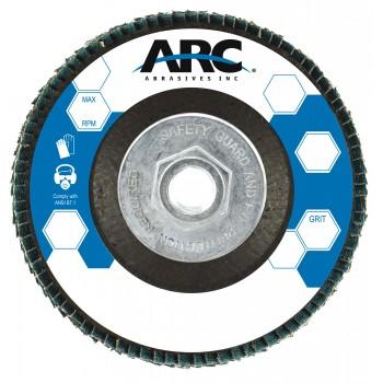 "7"" x 5/8""-11 T27 - Flat Face Aluminum Oxide Fiberglass Flap Disc, 80 Grit"