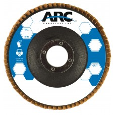 "7"" x 7/8"" T29 - Angle Face Aluminum Oxide Fiberglass Flap Disc, 80 Grit"