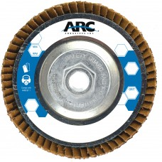 "7"" x 5/8""-11 T29 - Angle Face SZA Aluminum Flap Disc, 80 Grit"