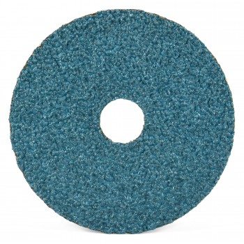 "5"" x 7/8"" Performance Coated Zirconia Alumina Resin Fiber Disc, 80 Grit"