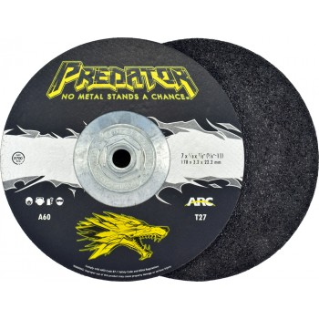 """7"""" x 1/4"""" x 5/8""""-11 T27 - Depressed Center Grinding Wheel, A24T"""