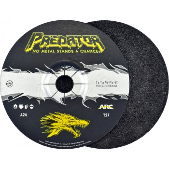 """7"""" x 1/4"""" x 7/8"""" T27 - Depressed Center Grinding Wheel, A24T"""