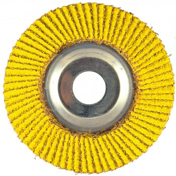 "4-1/2"" x 5/8""-11 T29 - Angle Face Performance Coated PREDATOR Aluminum Flap Disc, 40 Grit"