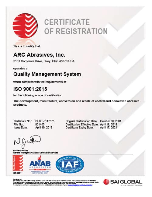 QMI Certificate of Registration Quality Management System