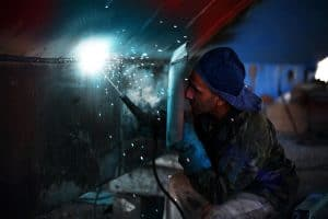 welding process and abrasives
